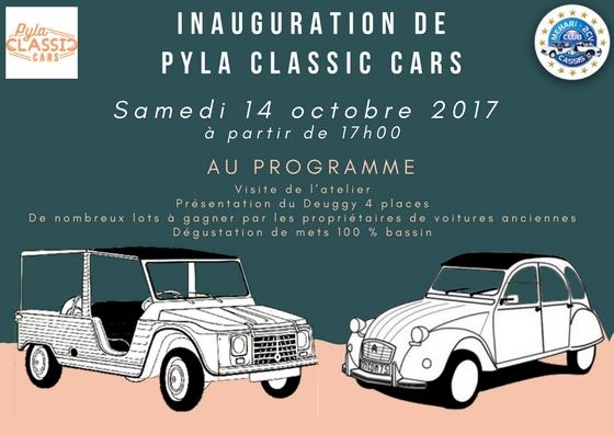 Inauguration Garage Pyla Classic Cars