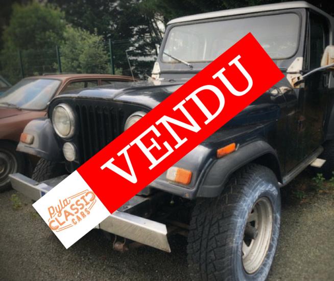 Vente Jeep CJ-7 roulante moteur 6 cylindres  - 4000 euros !