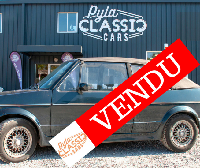 VW Golf Cabriolet de 1983 vendu