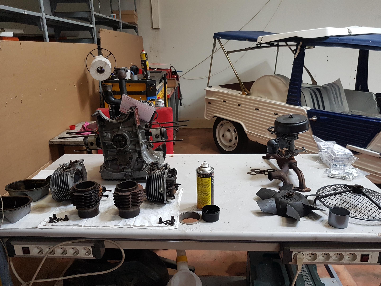 Réparation moteur 2 CV 425 cm3