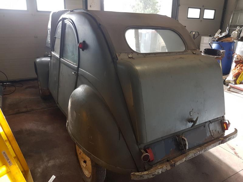 2cv type a de 1952 vendre for Interieur 2cv