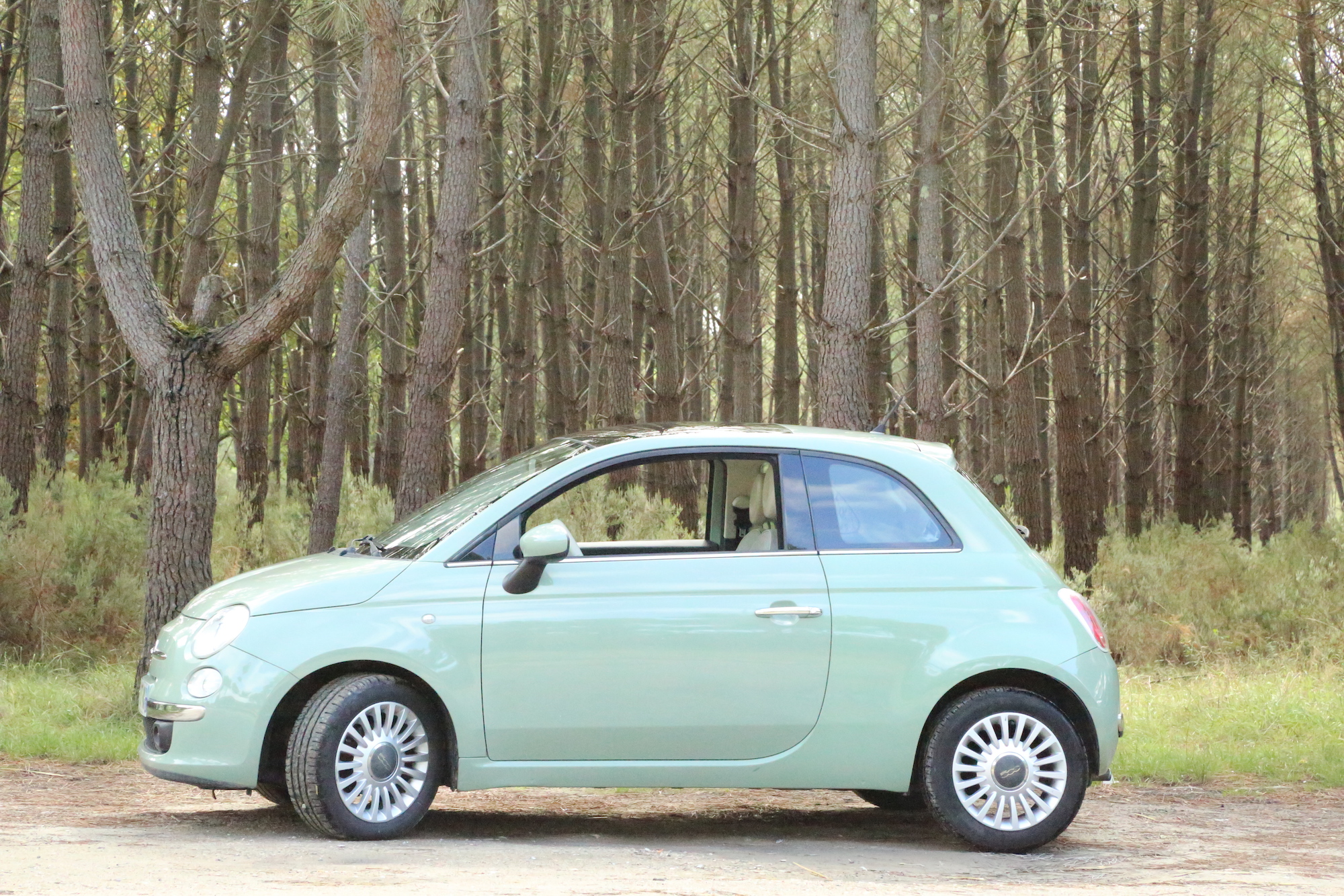 A vendre Fiat 500 verte