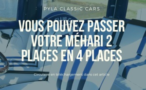 Mehari 2 places en 4 places : quid de la conversion, homologation et carte grise