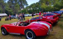 Rassemblement voitures anciennes et sportives par le Rotary d' Arcachon à Gujan